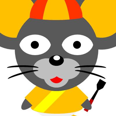 騎手衣装を着たネズミのアイコン(15)画像