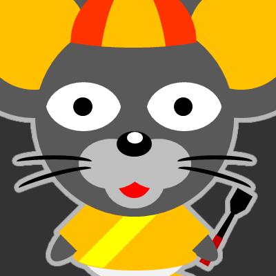 騎手衣装を着たネズミのアイコン(15)画像2