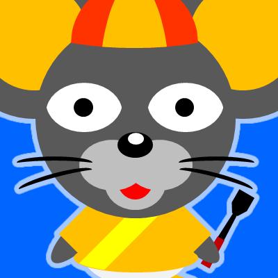 騎手衣装を着たネズミのアイコン(15)画像4