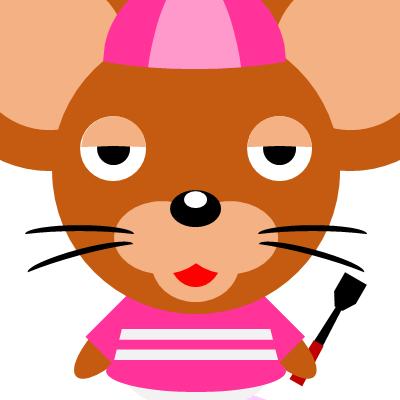 騎手衣装を着たネズミのアイコン(16)画像