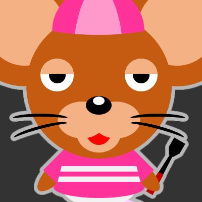 騎手衣装を着たネズミのアイコン(16)画像2