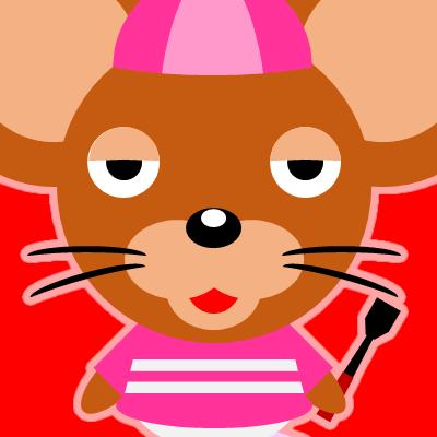 騎手衣装を着たネズミのアイコン(16)画像3