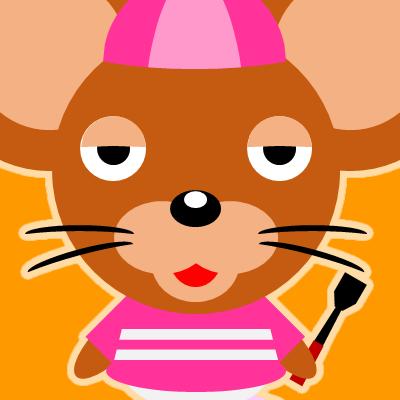 騎手衣装を着たネズミのアイコン(16)画像7