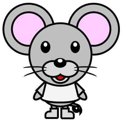 かわいいネズミのアイコン(1)画像