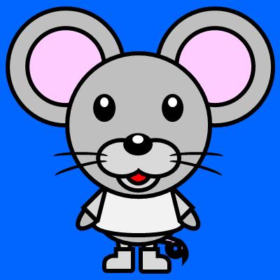 かわいいネズミのアイコン(1)画像4