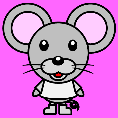 かわいいネズミのアイコン(1)画像8