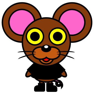 かわいいネズミのアイコン(2)画像