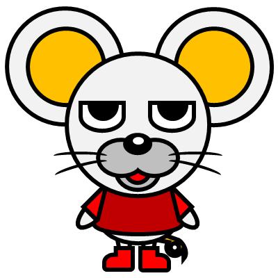 かわいいネズミのアイコン(3)画像