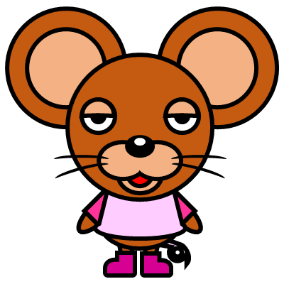 かわいいネズミのアイコン(8)画像