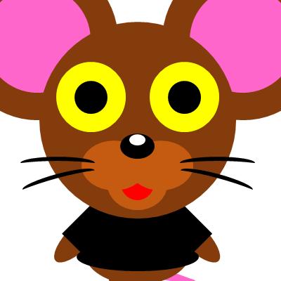 かわいいネズミのアイコン(10)画像