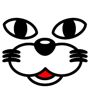 ネコの顔のアップのアイコン(1)画像