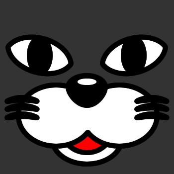 ネコの顔のアップのアイコン(1)画像2