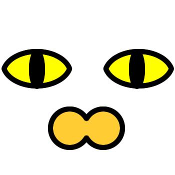 ネコの顔のアップのアイコン(2)画像