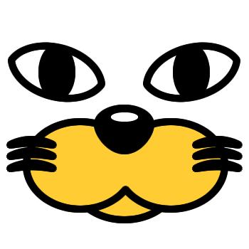 ネコの顔のアップのアイコン(3)画像