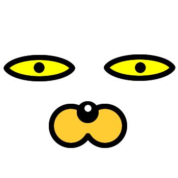 ネコの顔のアップのアイコン(4)画像