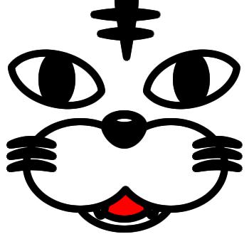 ネコの顔のアップのアイコン(5)画像