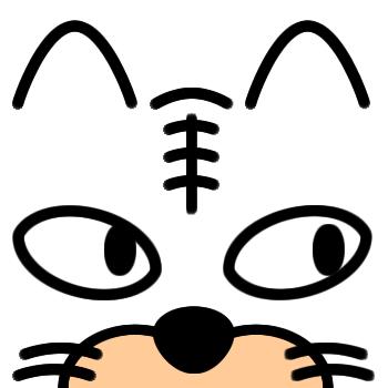 ネコの顔のアップのアイコン(6)画像
