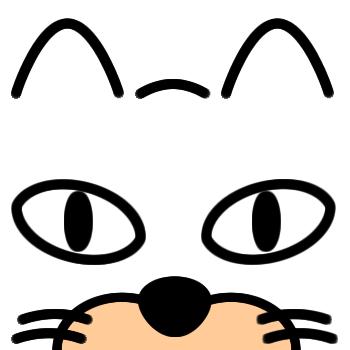 ネコの顔のアップのアイコン(7)画像
