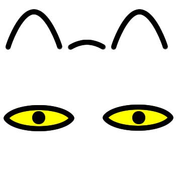 ネコの顔のアップのアイコン(8)画像