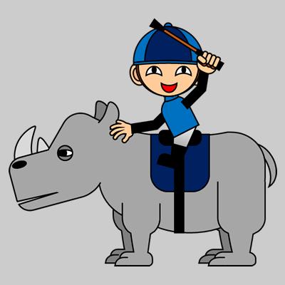 サイの乗る騎手のアイコン(4)画像