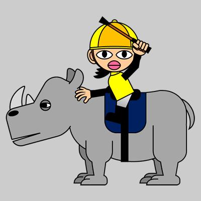 サイの乗る騎手のアイコン(5)画像