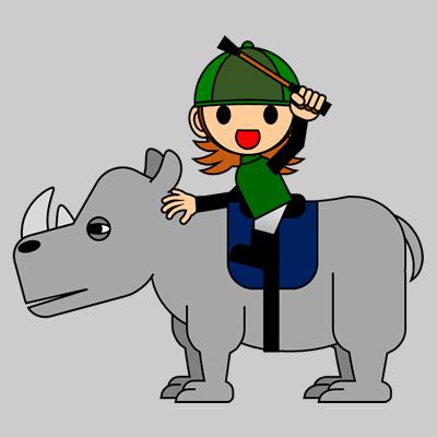 サイの乗る騎手のアイコン(6)画像