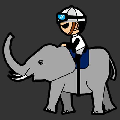 ゾウに乗る騎手のアイコン(1)画像2