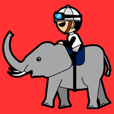 ゾウに乗る騎手のアイコン(1)画像3