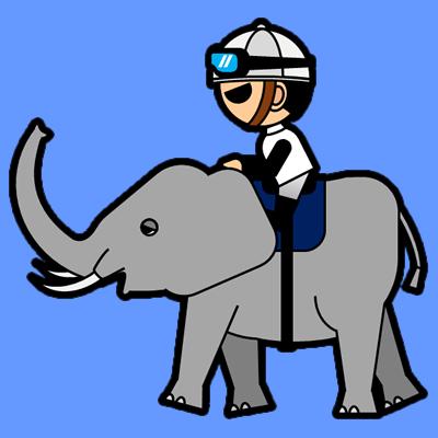 ゾウに乗る騎手のアイコン(1)画像4