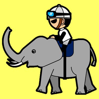 ゾウに乗る騎手のアイコン(1)画像5