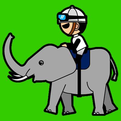 ゾウに乗る騎手のアイコン(1)画像6