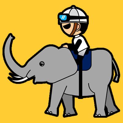 ゾウに乗る騎手のアイコン(1)画像7