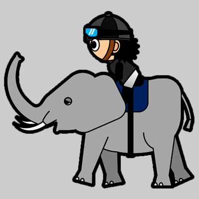 ゾウに乗る騎手のアイコン(2)画像