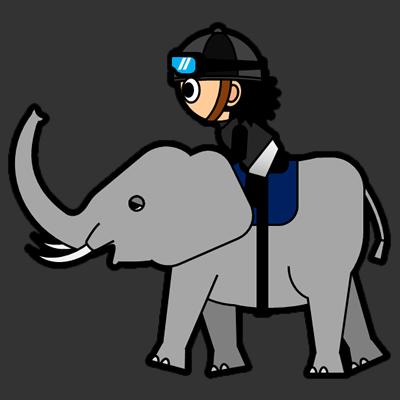 ゾウに乗る騎手のアイコン(2)画像2