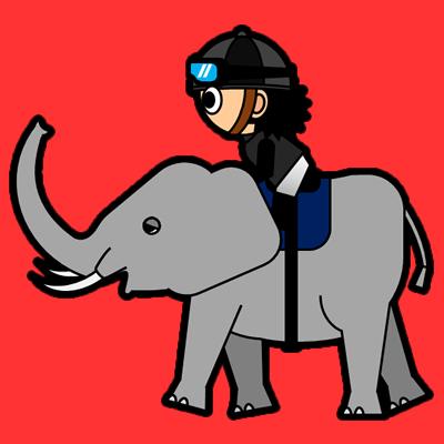 ゾウに乗る騎手のアイコン(2)画像3