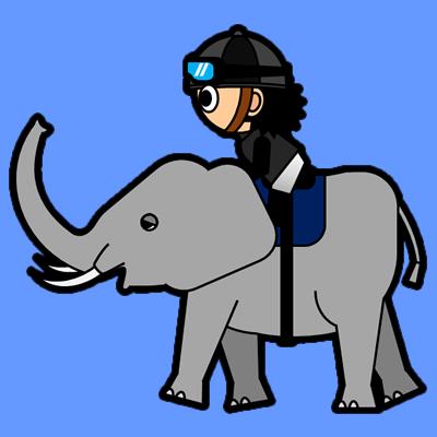 ゾウに乗る騎手のアイコン(2)画像4
