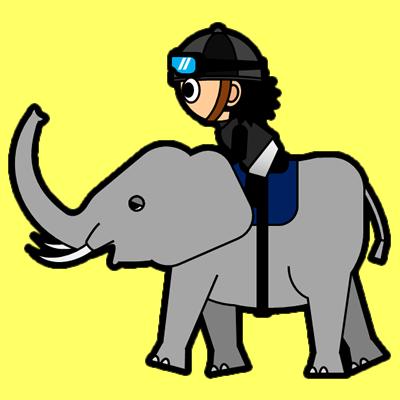 ゾウに乗る騎手のアイコン(2)画像5