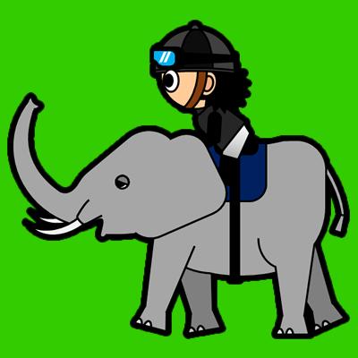 ゾウに乗る騎手のアイコン(2)画像6