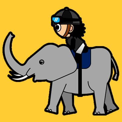 ゾウに乗る騎手のアイコン(2)画像7