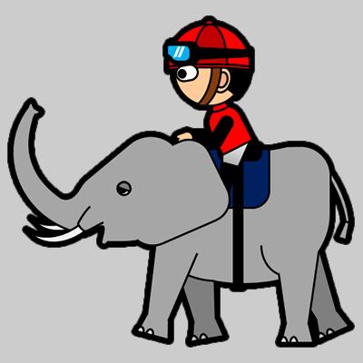 ゾウに乗る騎手のアイコン(3)画像