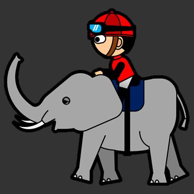 ゾウに乗る騎手のアイコン(3)画像2