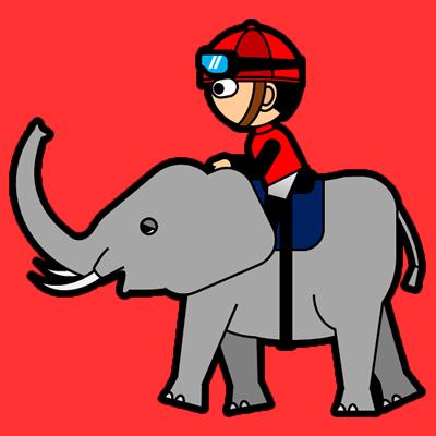 ゾウに乗る騎手のアイコン(3)画像3