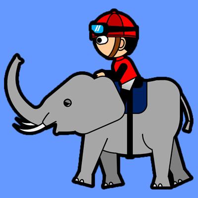 ゾウに乗る騎手のアイコン(3)画像4