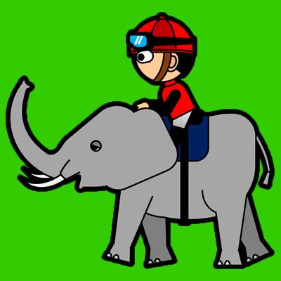 ゾウに乗る騎手のアイコン(3)画像6