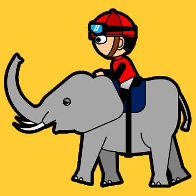 ゾウに乗る騎手のアイコン(3)画像7