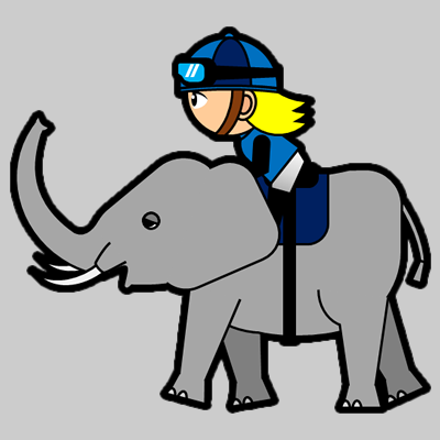 ゾウに乗る騎手のアイコン(4)画像