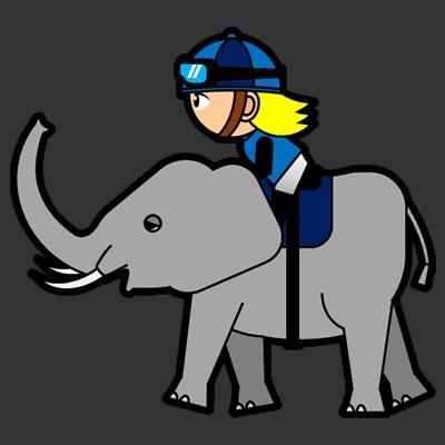 ゾウに乗る騎手のアイコン(4)画像2