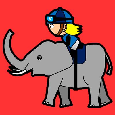 ゾウに乗る騎手のアイコン(4)画像3