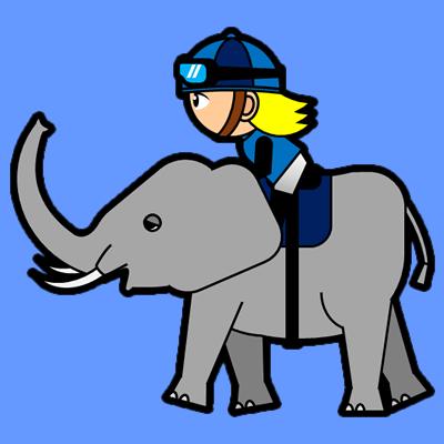 ゾウに乗る騎手のアイコン(4)画像4