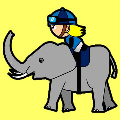 ゾウに乗る騎手のアイコン(4)画像5